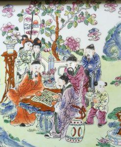 Famille Rose Porcelain Plaque